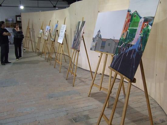 Algunos de los cuadros expuestos en el 3er concurso de pintura rápida de Ibi