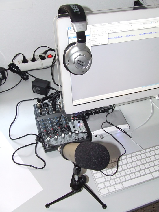 Podcastudio montado