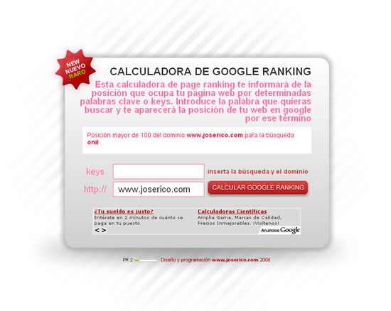 Google page ranking