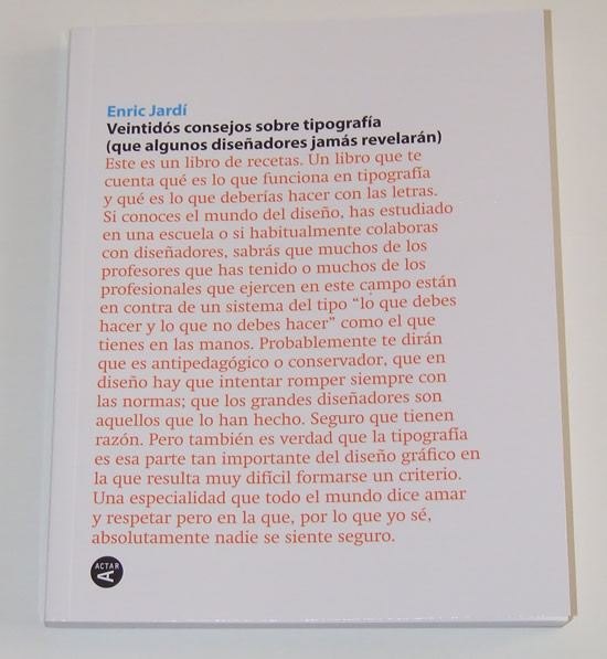 Veintidós consejos sobre tipografía
