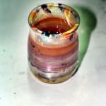 Vaso de danone para pintar en acrílico