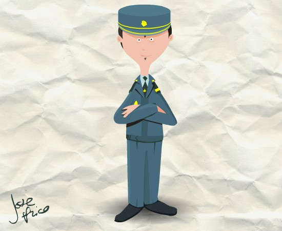 ilustración guardia civil