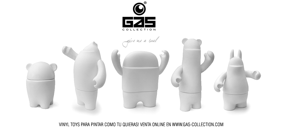 DIY vinyl toys Gas Collection. Diseño y desarrollo a medida.